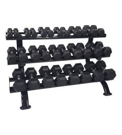 RS Sports Voordeelset Hexa dumbells l 1 t/m 20 kg + 1x dumbellrek 3 laags