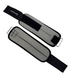 Tunturi variabele enkel- en polsgewichten l neopreen l 0.5 kg l grijs zwart