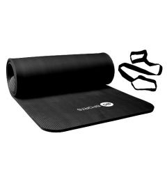 Fitnessmat / trainingsmat NBR RS Sports l zwart l 180 x 60 x 1,5 cm