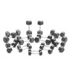 Voordeelset Hexa dumbells 1 t/m 10KG