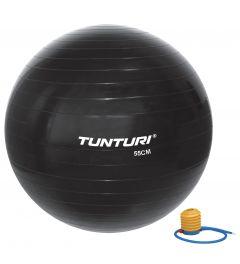 Tunturi gymbal l fitnessbal incl pomp l 55 t/m 90 cm l zwart